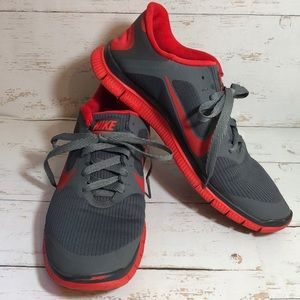 Nike Free 4.0 V3 Gray/Tomato Red Running Shoe